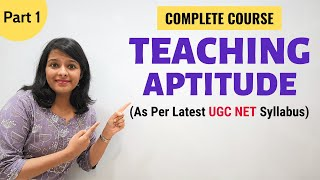 Teaching Aptitude: As per Latest NTA UGC NET Paper 1 Syllabus (Part 1)