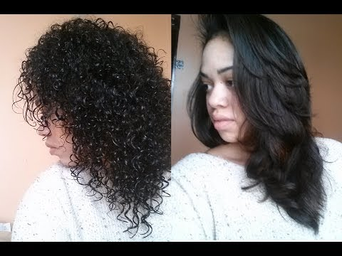 Straightening Curly Hair Instyler Youtube