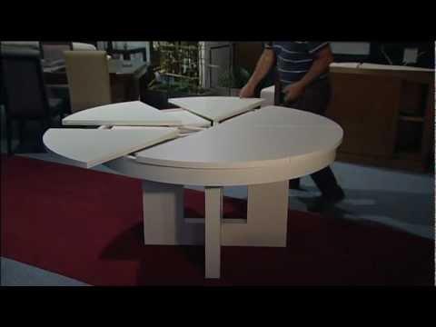 Mesa redonda extensible muebles artenogal sonseca toledo for Mesa comedor redonda extensible madera