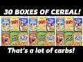 30 Boxes of Cereal Eating Challenge - Breakfast of Carb Champions?   Freak Eating vs The World