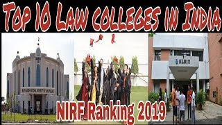 Top 10 Law colleges and universities in India || NIRF Ranking 2019