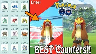 How To Team Build Effectively For Shiny Entei Day In Pokémon GO! (2019) | BEST Raid Counters Guide!
