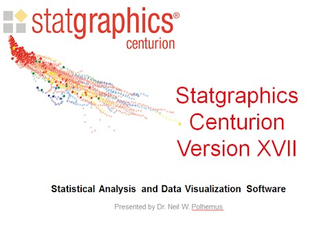 Webinar: Introducing Statgraphics Centurion XVII
