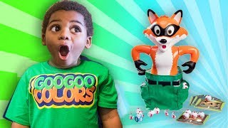 GOO GOO COLORS PLAYS CATCH THE FOX FAMILY FUN BOARD GAME