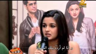 """Student Of The Year"" Star-Cast interview Zee Aflam interview"