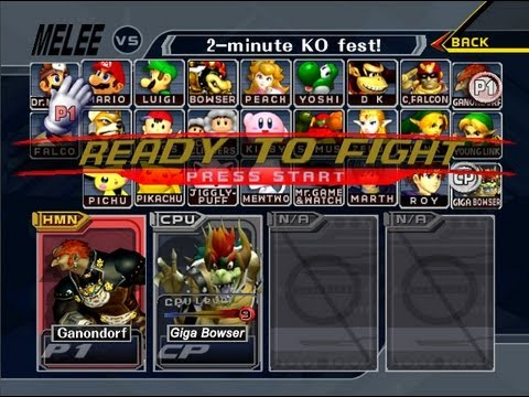Super Smash Bros Melee Unlocked Giga Bowser Youtube
