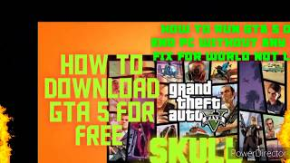 HOW TO DOWNLOAD GTA 5 FOR FREE FOR PC.  HOW TO RUN GTA 5 ON A LOW END PC WITHOUT ANY PROBLEMS.