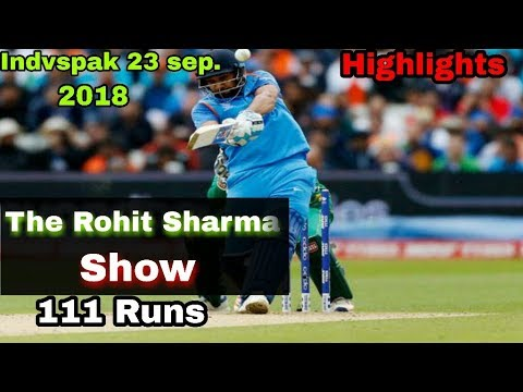 IndvsPak 2nd Match,Asia Cup 2018 |The Rohit Sharama Batting Highlights |