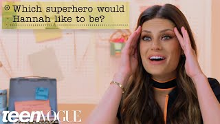 Hannah Stocking Guesses How 1,599 Fans Responded to a Survey About Her | Teen Vogue