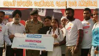 Birthday day of Dr BR Ambedkar 2mini marathon race.great sports club amritsar
