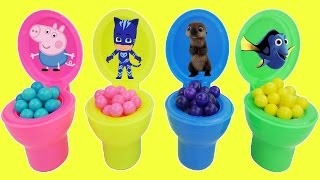 Gumball candy with Pig peppa surprises