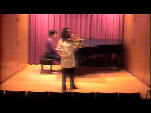 Anyango plays Mozart Violin concerto No 3 K 216 I. Allegro at Eastman