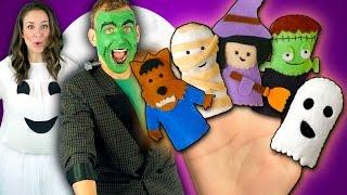 Halloween Finger Family Song | Monster Finger Family Nursery Rhymes
