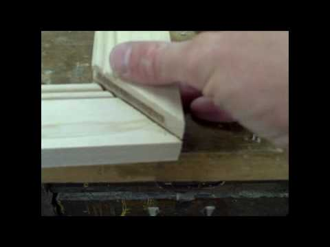 How to make mitered cabinet doors.
