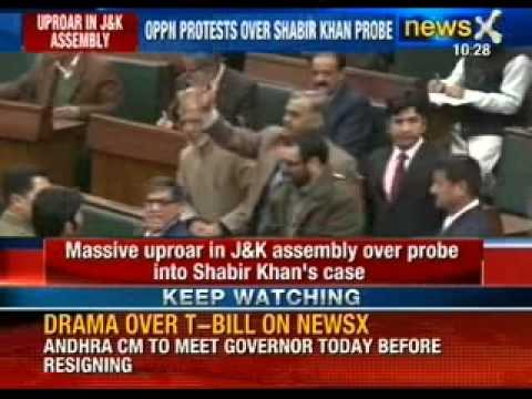 Massive uproar in Jammu and Kashmir Assembly over probe in Shabir Khan's case