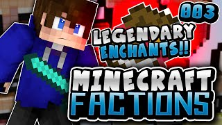 FIRST LEGENDARY ENCHANTMENT!! | Minecraft COSMIC FACTIONS #3 (Cosmic PvP Pleb Planet)