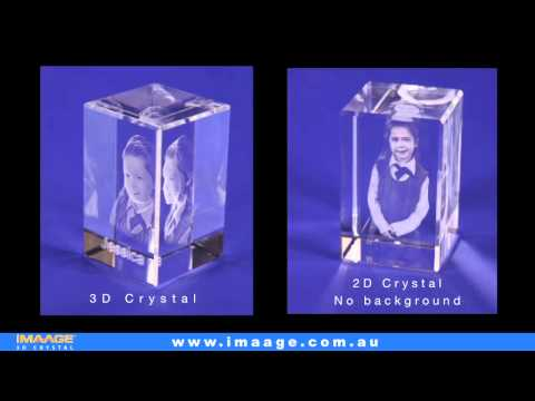 Comparing 2D and 3D Crystal engraving