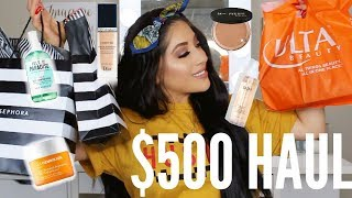 $500 HUGE SEPHORA + ULTA HAUL | CELINA MENDOZA