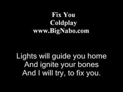 Fix You Lyric ColdPlay