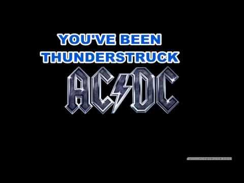AC/DC Thunderstruck lyrics HQ