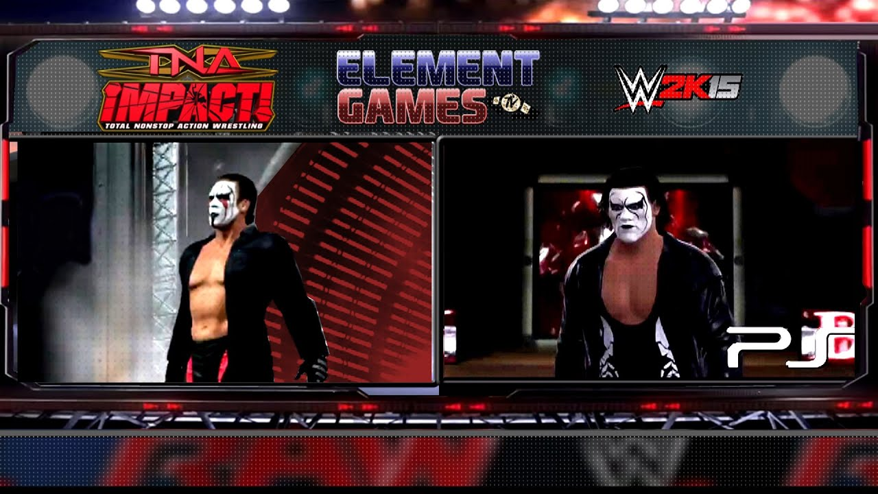 WWE 2K15 : Sting Entrance - Comparison - WWE 2K15 vs TNA ...