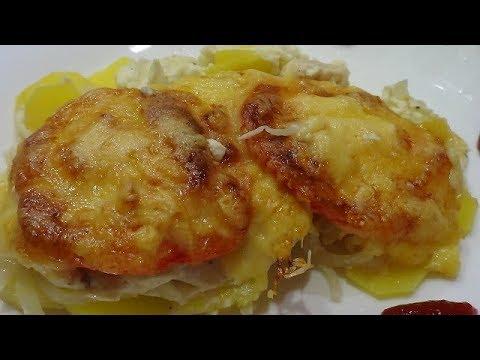 Ужин для всей семьи  Курица запеченная в духовке с картофелем
