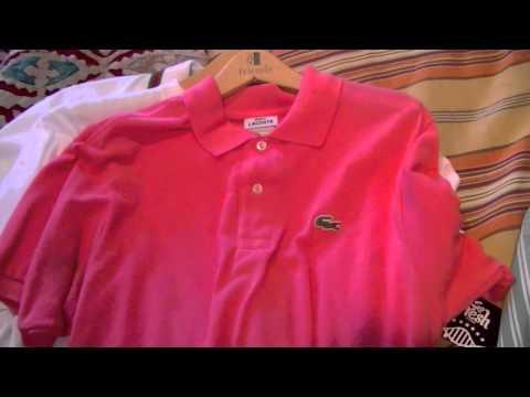 lacoste shirt, Ralph Lauren, Gucci pick ups! Custom fit polo long sleeve