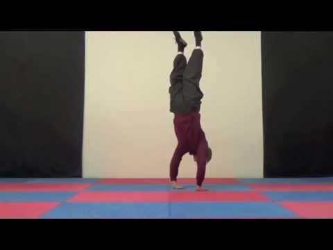 Norwich Yoga teacher shows handstands