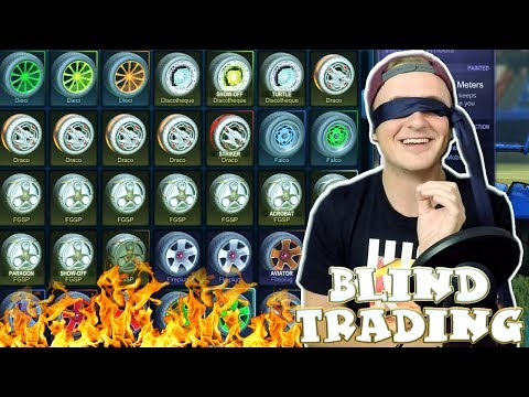 BLIND TRADING WITH WHEELS ONLY! (USING FILTERS) | BLIND TRADING With Fans In Rocket League #6