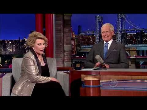 Joan Rivers on Late Show w/David Letterman 7-8-14