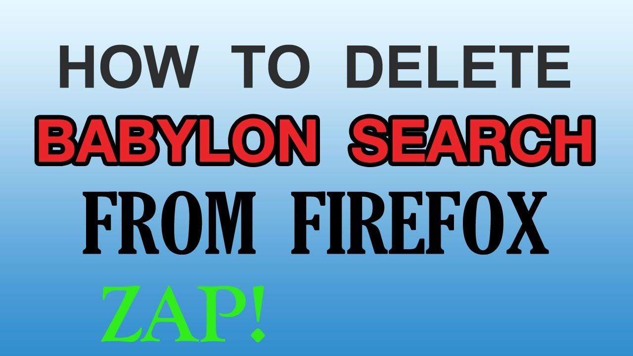 How Do I Remove Babylon Search From My Computer