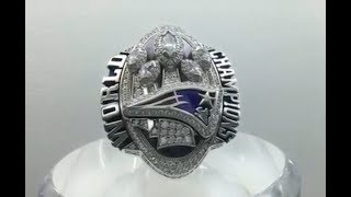 Close-up with every Super Bowl ring ever - including the Patriots' 5 championship rings