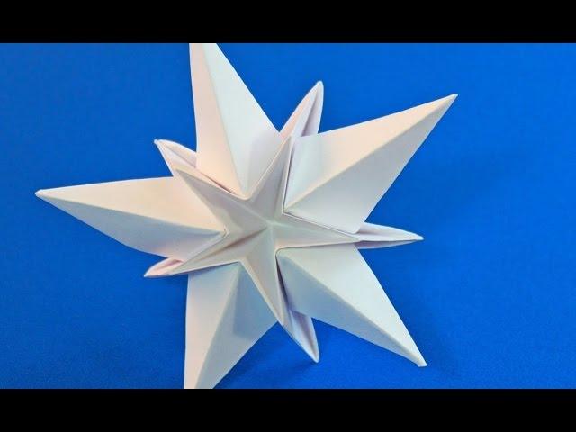 Объемная ЗВЕЗДА из бумаги /Easy Christmas star/Оригами Подарки Из Бумаги Поделки с детьми
