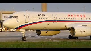 Tupolev Tu-214 Russian Air Force (Government) - 2 x Close-Up at CDG Airport!