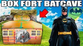 BOX FORT BATCAVE!! 📦🦇 Batman Adventure Nerf, Gadgets & More!