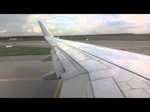 Аэропорт Домодедово. Взлет самолета. Domodedovo takeoff