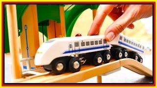 BRIO Toys BRIDGE DESTRUCTION! - Toy Cars & Trains Demo - Learn High & Low - Videos for kids