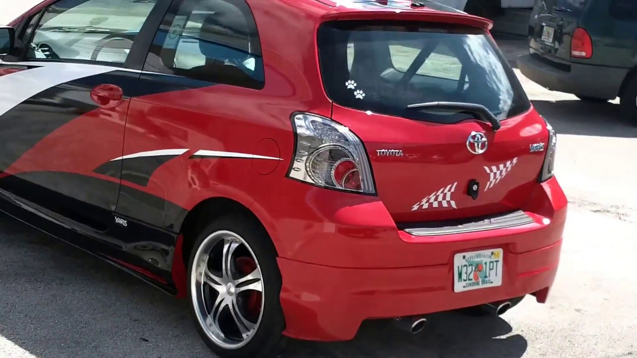 Custom Toyota Yaris Wrap Graphics And Racing Stripes Fort
