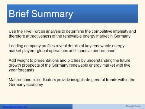 Renewable Energy in Germany - Reports Corner