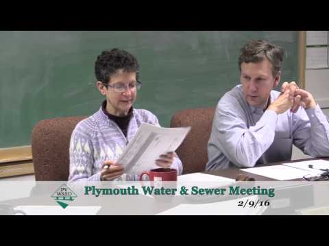 PVWSD Commissioners Meeting 2/9/16