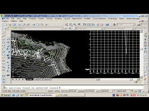 Curso de AutoCad Land: 7. Diseño Geometrico de Carreteras