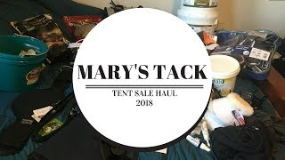 HUGE Mary's Tack Tent Sale Haul 2018| buying too much stuff...