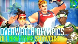 Overwatch SUMMER GAMES (All Skins, Highlight Intros, Voice lines, Emotes and more)