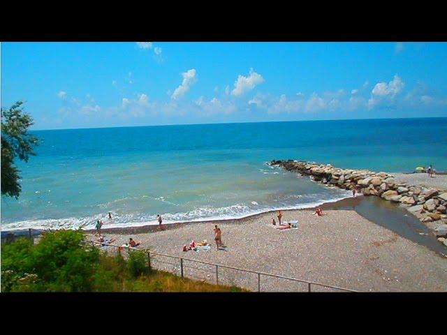 """Моя поездка в Сочи 27 июня. Море из окна """"Ласточки"""" (Sochi)"""