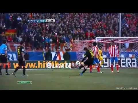 Lionel Messi Amazing Free kick against Atletico de Madrid