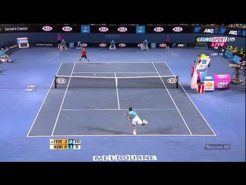 Australian Open 2010 4e Ronde - Roger Federer vs Lleyton Hewitt