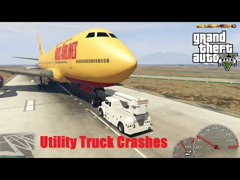 GTA V Utility Truck Crash Compilation