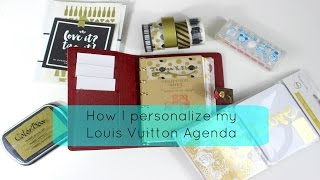 How I Peronsalize My Louis Vuitton PM Agenda
