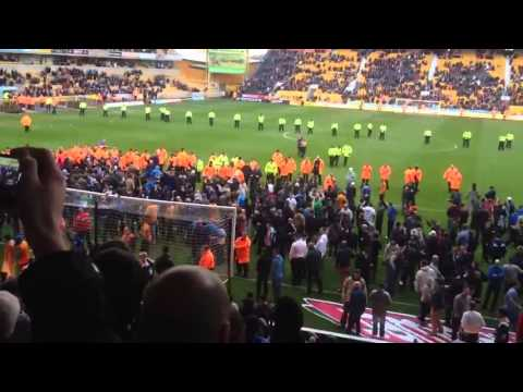 Wolves fans invade pitch after losing to Burnley