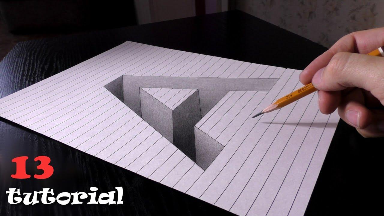 Начинающие 3 д рисунки на бумаге